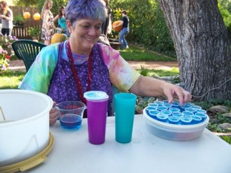 Barbi is making jello shots!