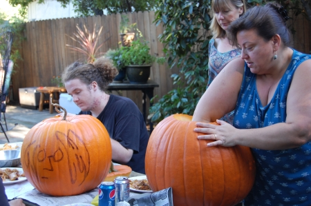 Ewww, pumpkin guts!